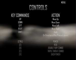 The Controls Screen