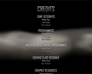The Credits Screen At The Beginning